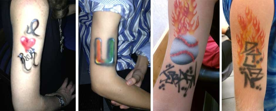 freehand temporary airbrush tattoos by Painted Phoenix Events... no stencils needed!!