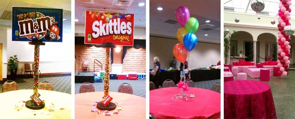 Custom Centerpieces hand made for parties and entertainment by Painted Phoenix Events