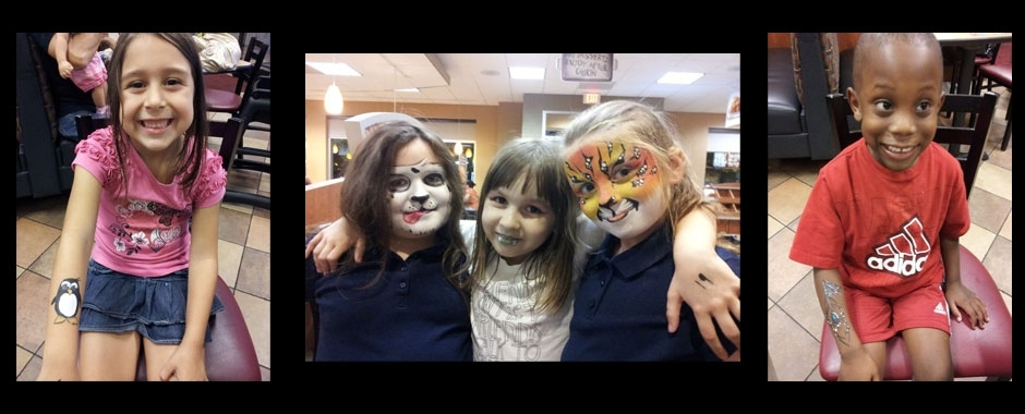 kids night face painting by Painted Phoenix Events