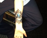 Freehand airbrush tattoo 9